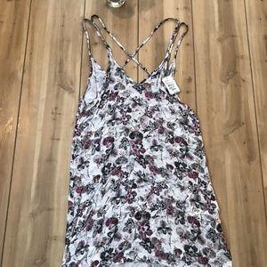 Onia Floral Dress SZ S V Neck Spaghetti Strap A89